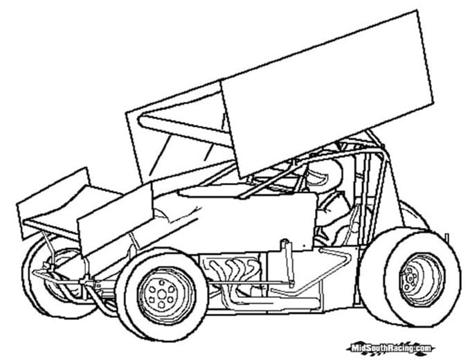 Dirt Track Racing Coloring Pages