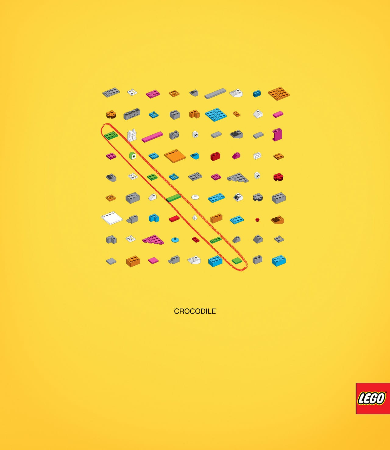 Lego Print Advert By Tbwa  Words Puzzle, Crocodile