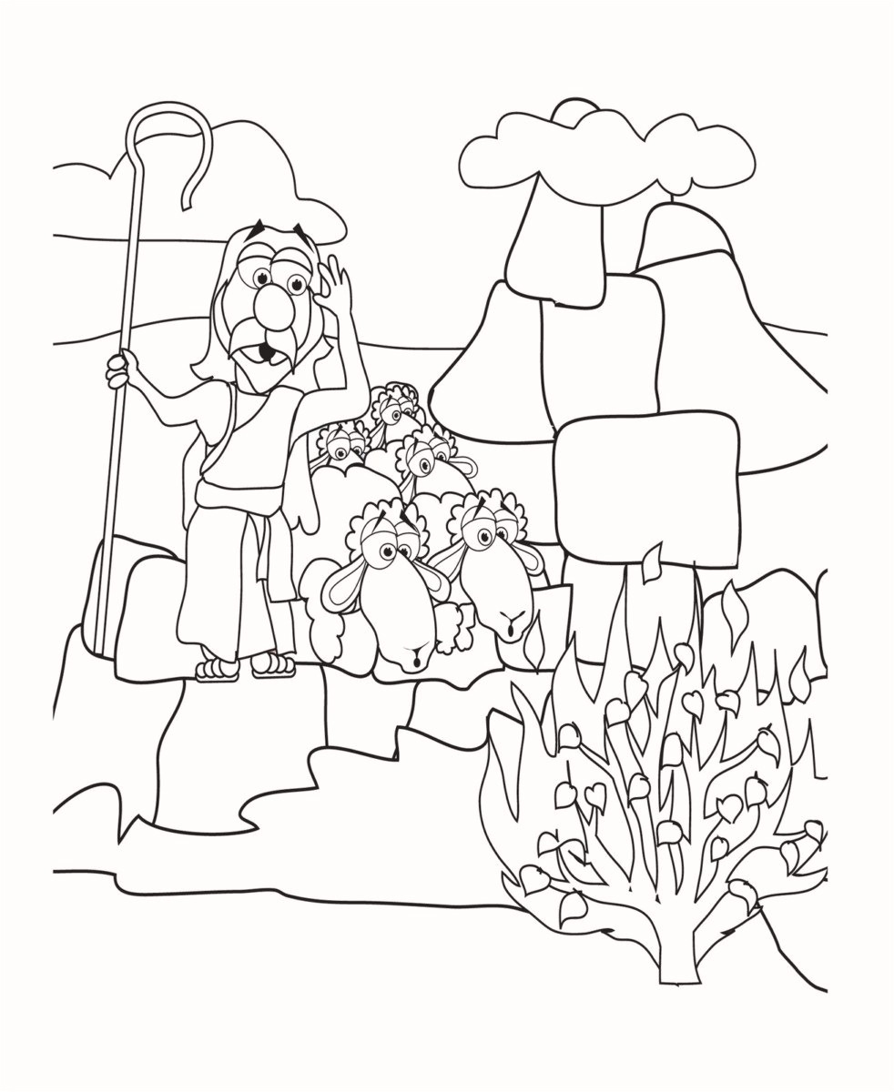 Innovation Inspiration Moses In The Desert Coloring Pages