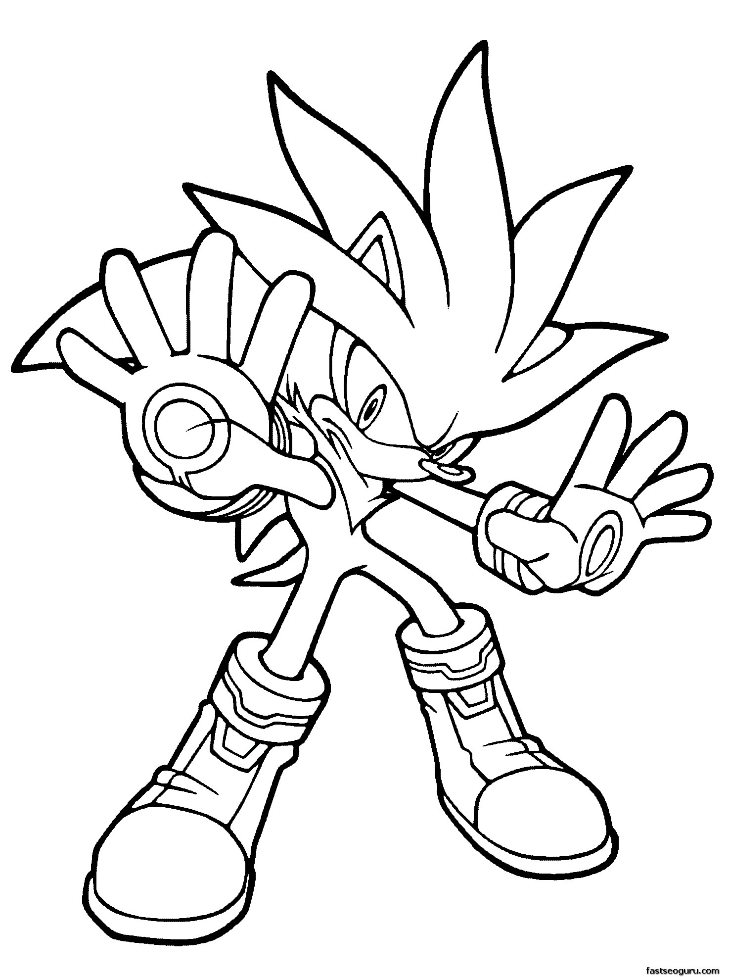 Cute Sonic Best Hedgehog Coloring Pages Free Printable Home Of