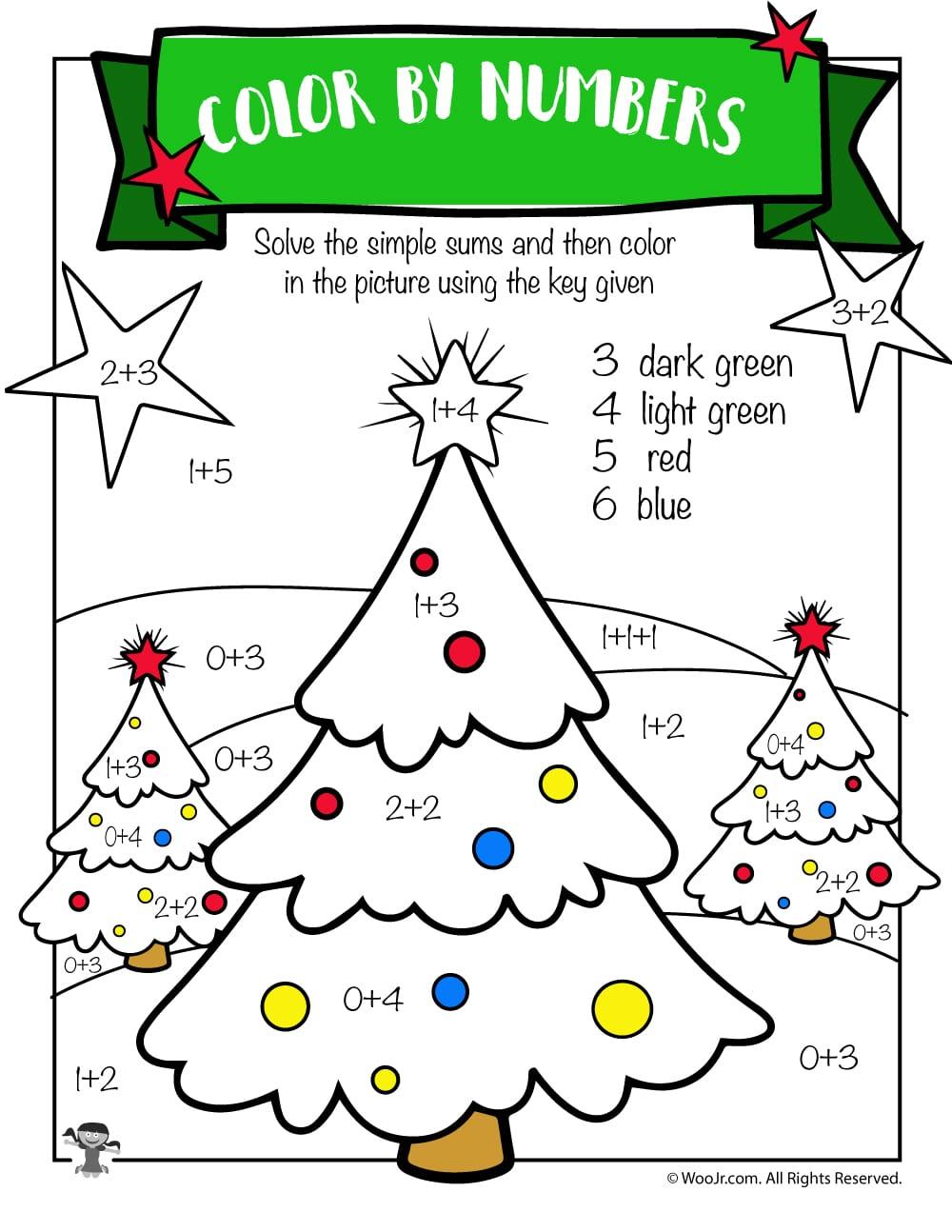 Free Printable Christmas Math Worksheets Pre K, 1st Grade ...