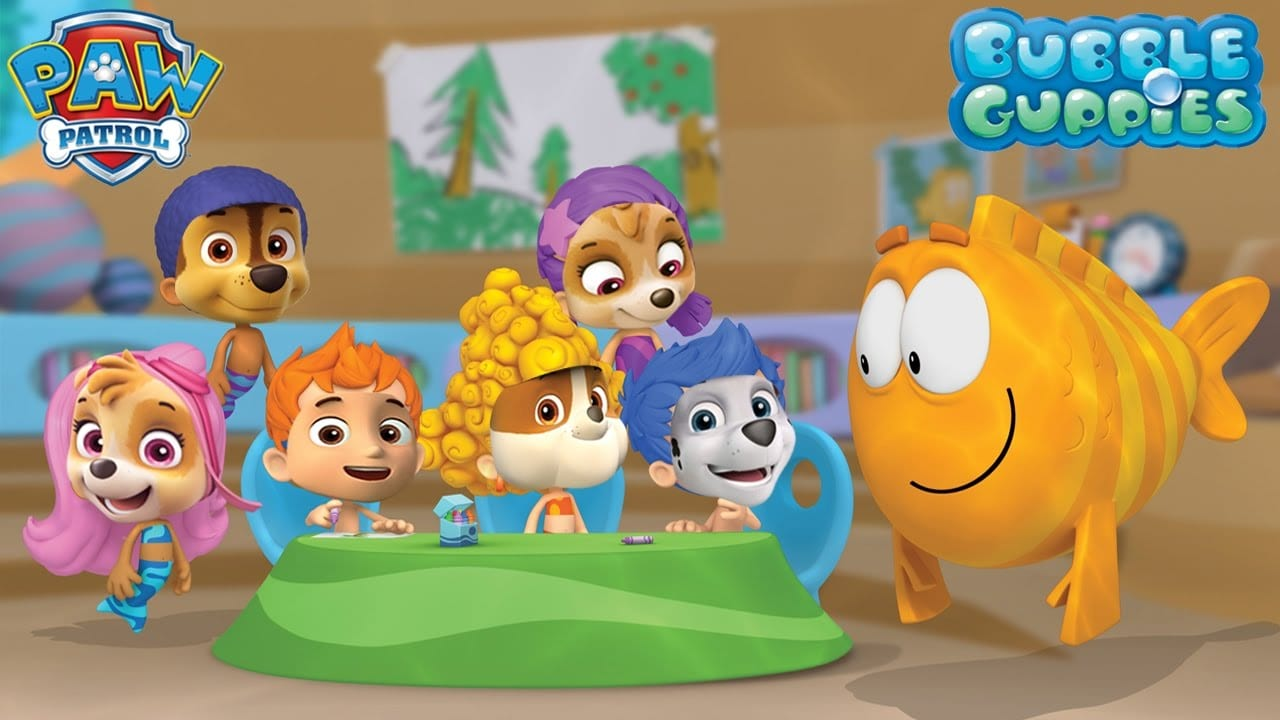 Paw Patrol As Bubble Guppies Gil Molly Nonny Oona – Learn Colors