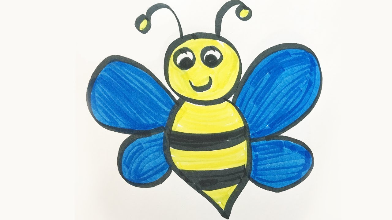 How To Draw And Color A Bumble Bee