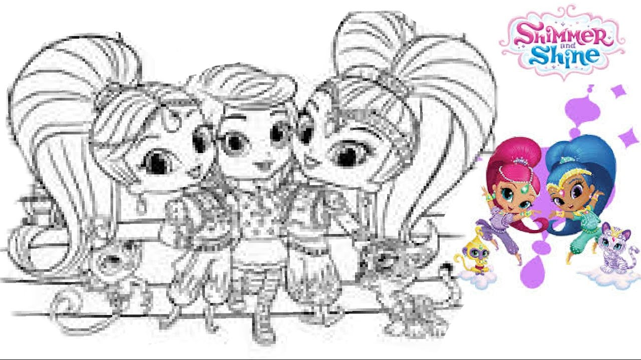 Disney Shimmer And Shine Super Coloring Book Pages Nickelodeon