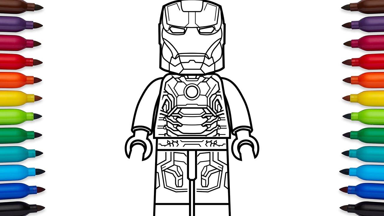 How To Draw Lego Iron Man Mark 43