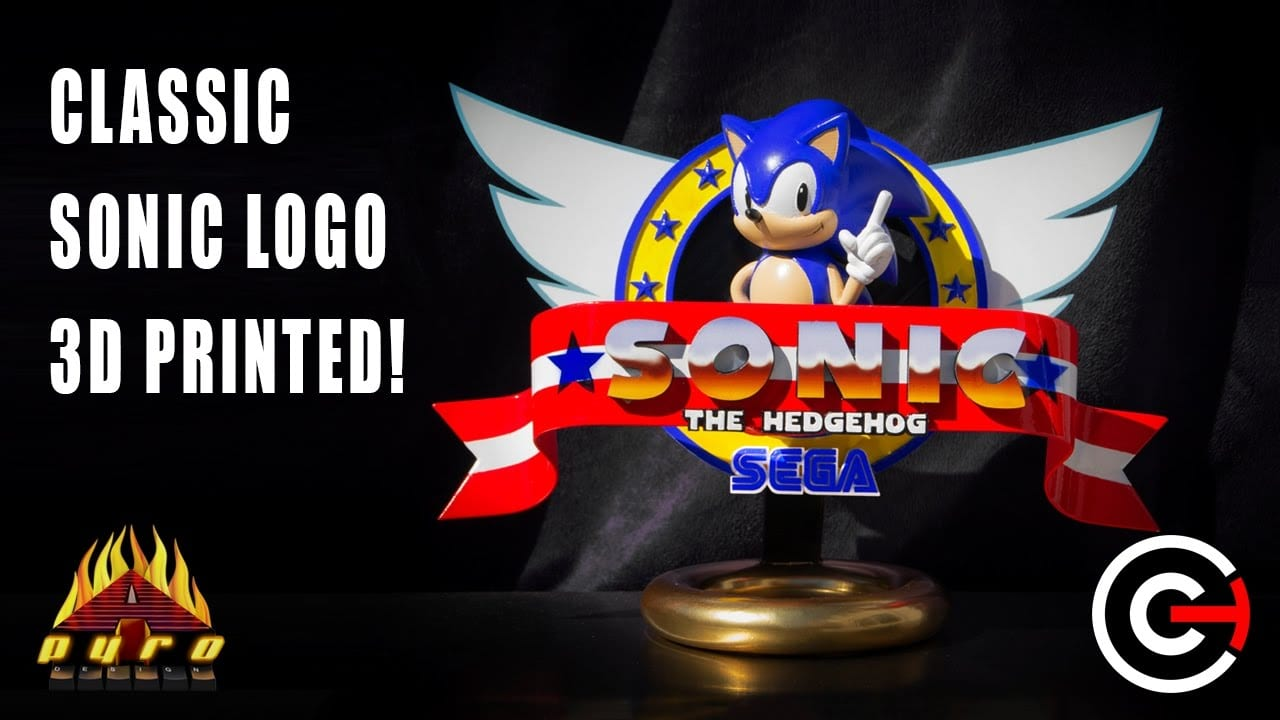 Retro Sonic The Hedgehog Logo Brought To Life Using 3d Printing