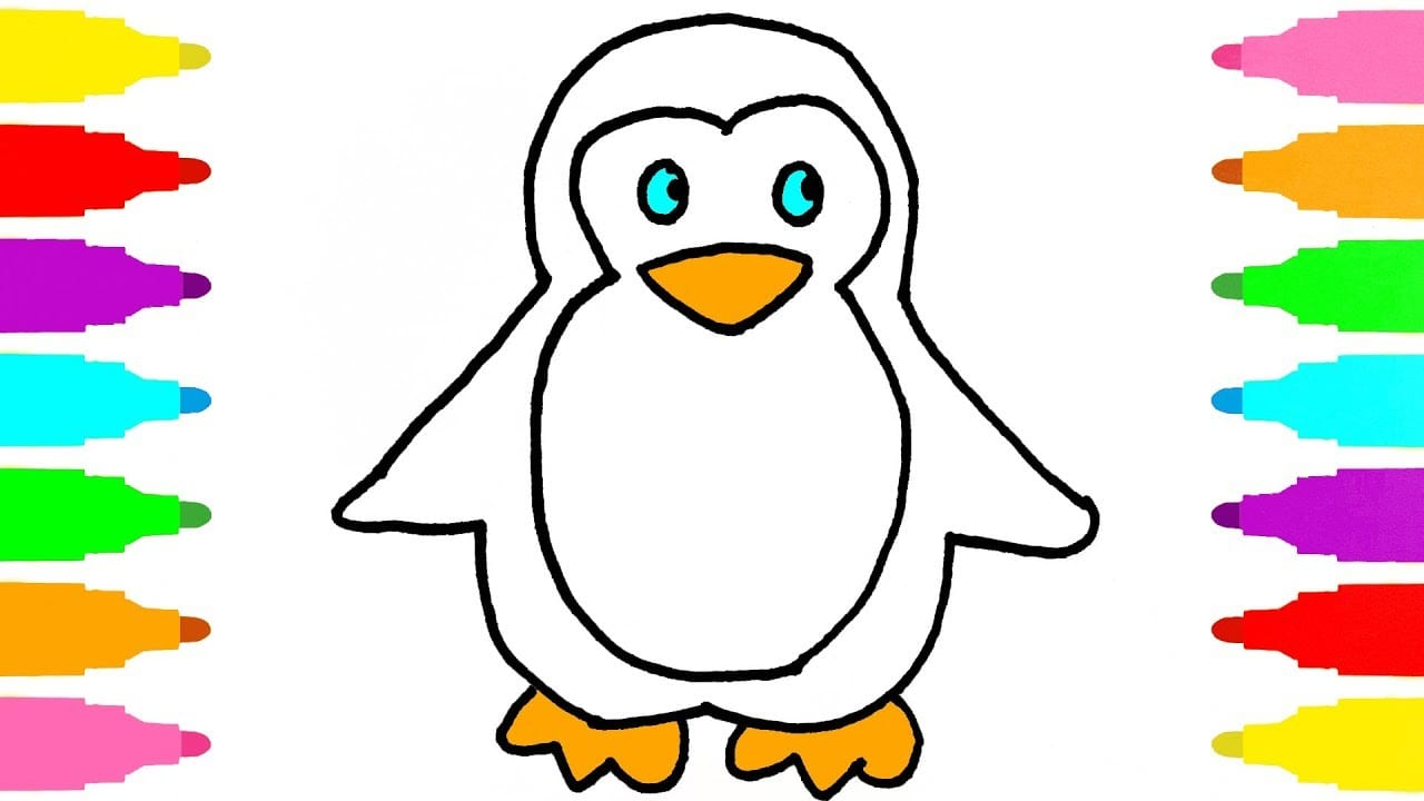 How To Draw Penguin For Kids