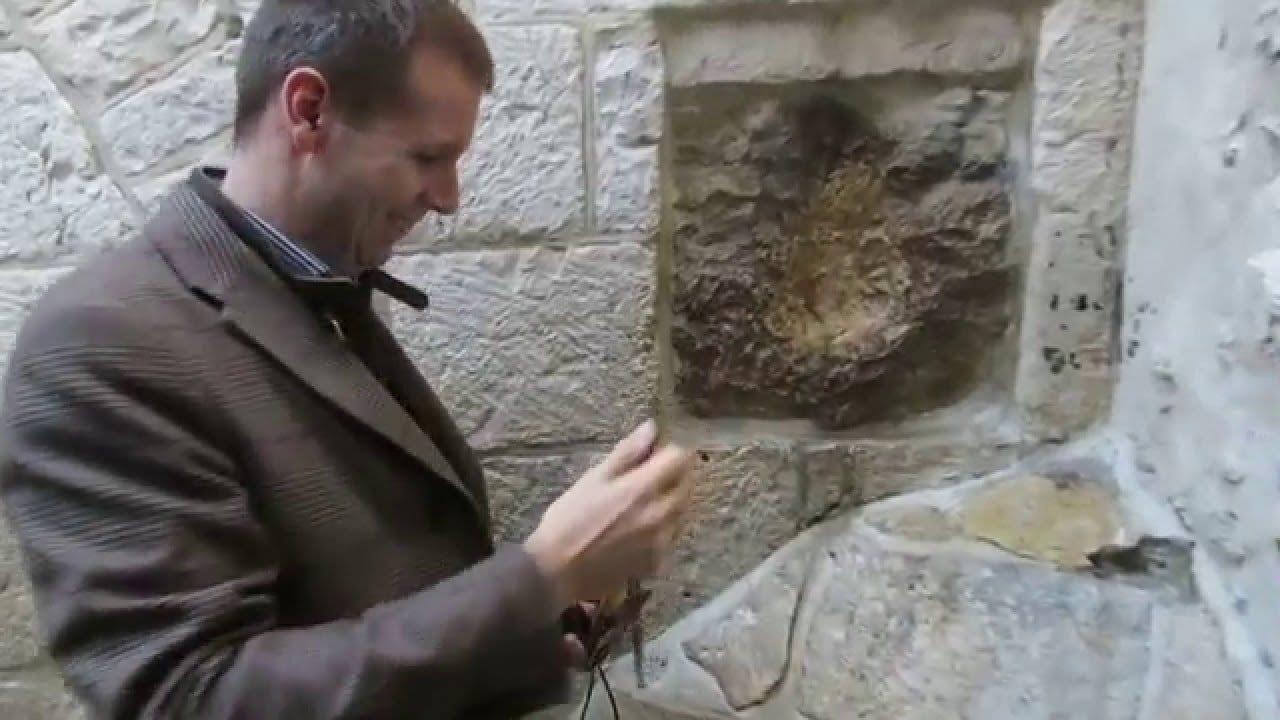 Hand Print Of Jesus In Jerusalem Old City