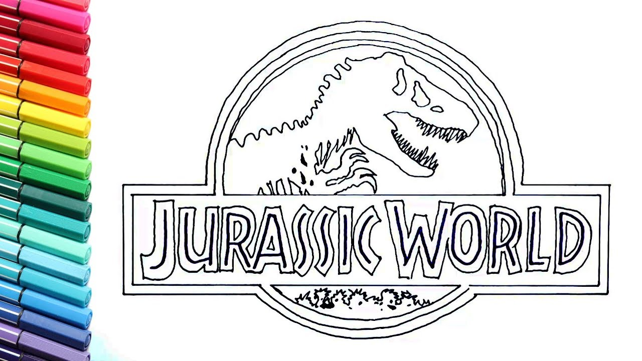 Drawing And Coloring Jurassic World Logo