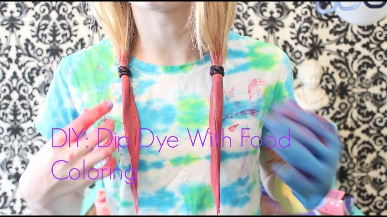 Diy!⎜ Dip Dye With Food Coloring☀