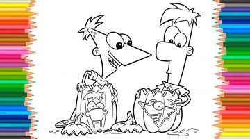 Phineas And Ferb Coloring Pages Disney
