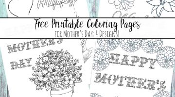 Printable Mothers Day Sheets
