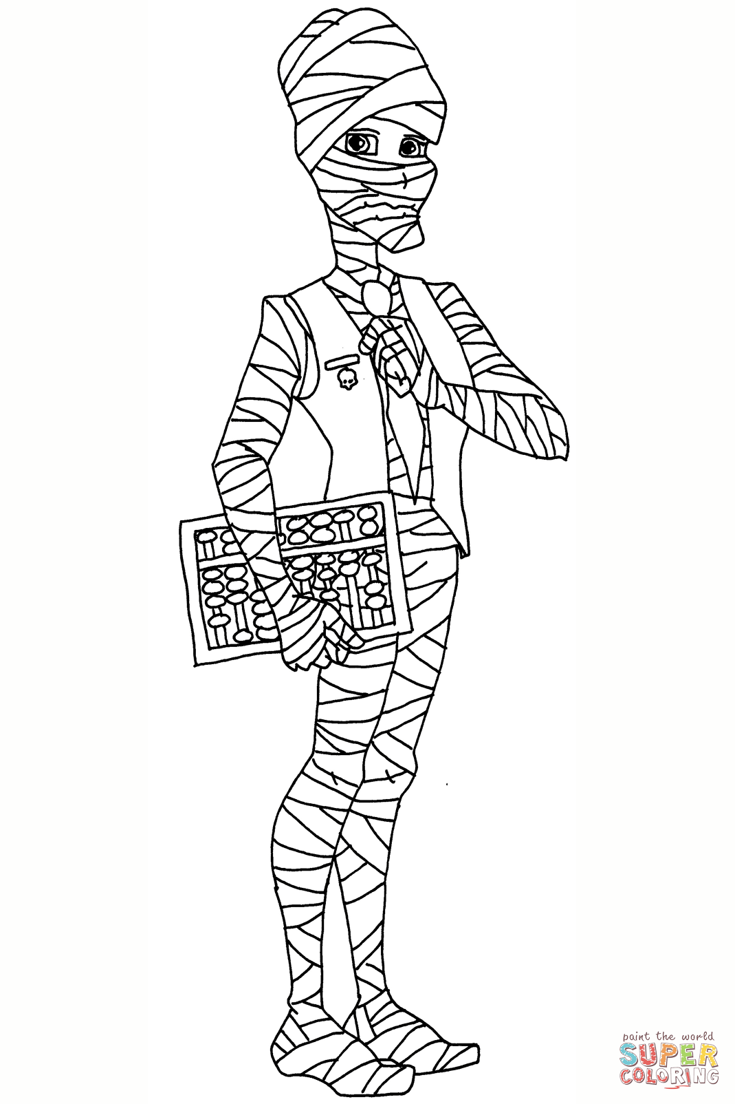 Mr Mummy Coloring Page