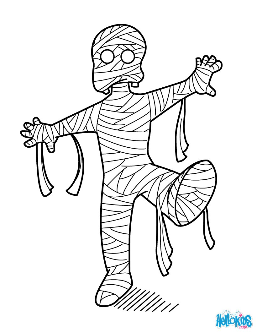 Enchanted Mummy Coloring Pages