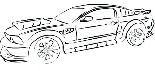 Mustang Coloring Pages For Kids On Mustang Coloring Pages