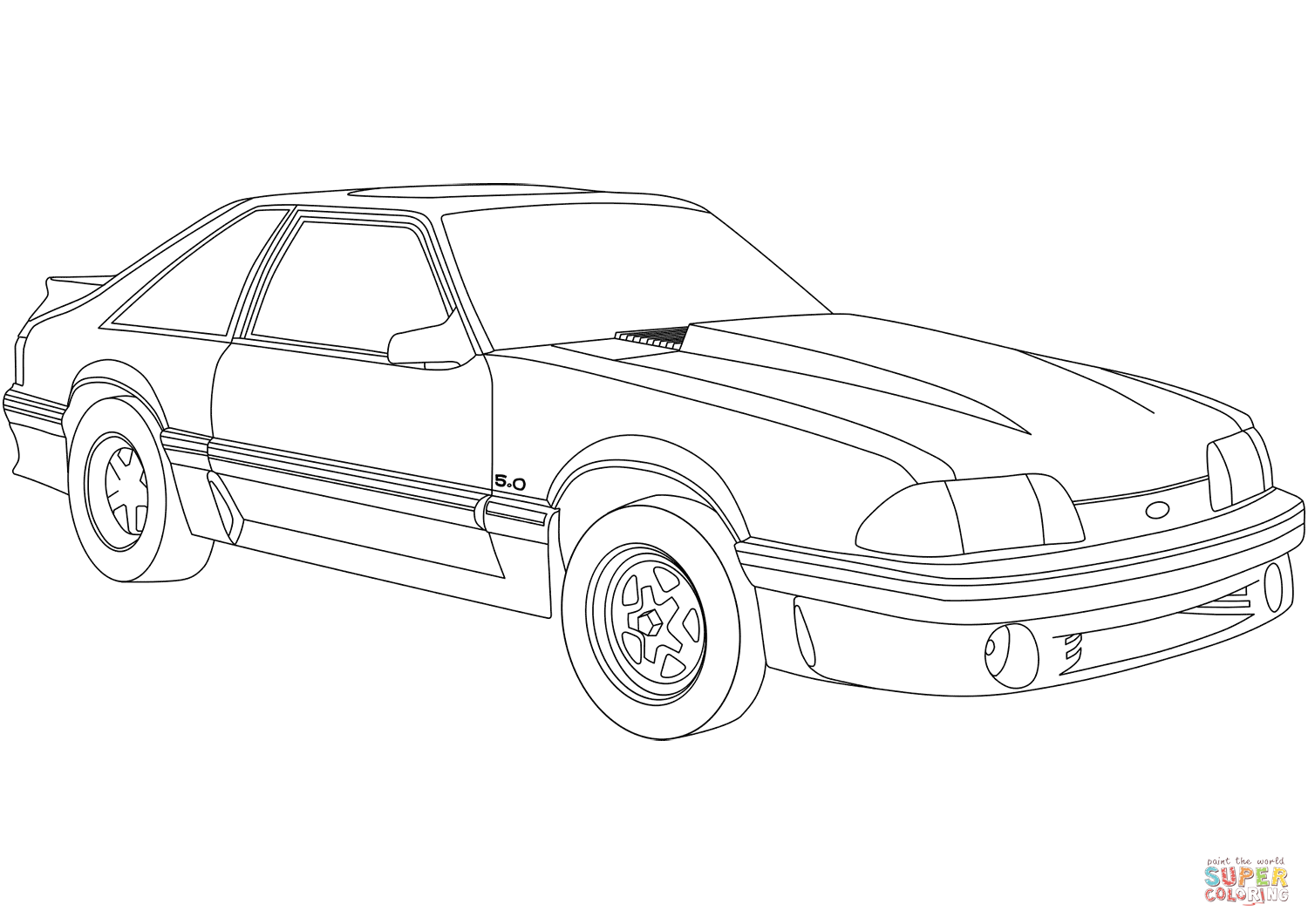 Mustang Coloring Pages 32 With Mustang Coloring Pages