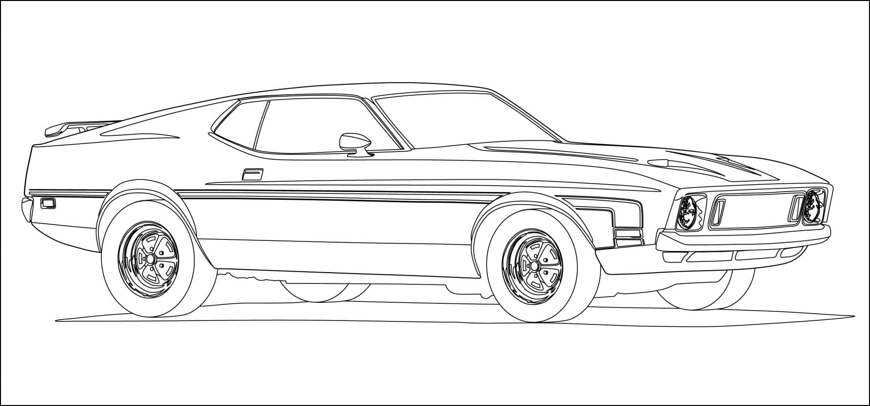 Mustang Coloring Pages 67 With Mustang Coloring Pages