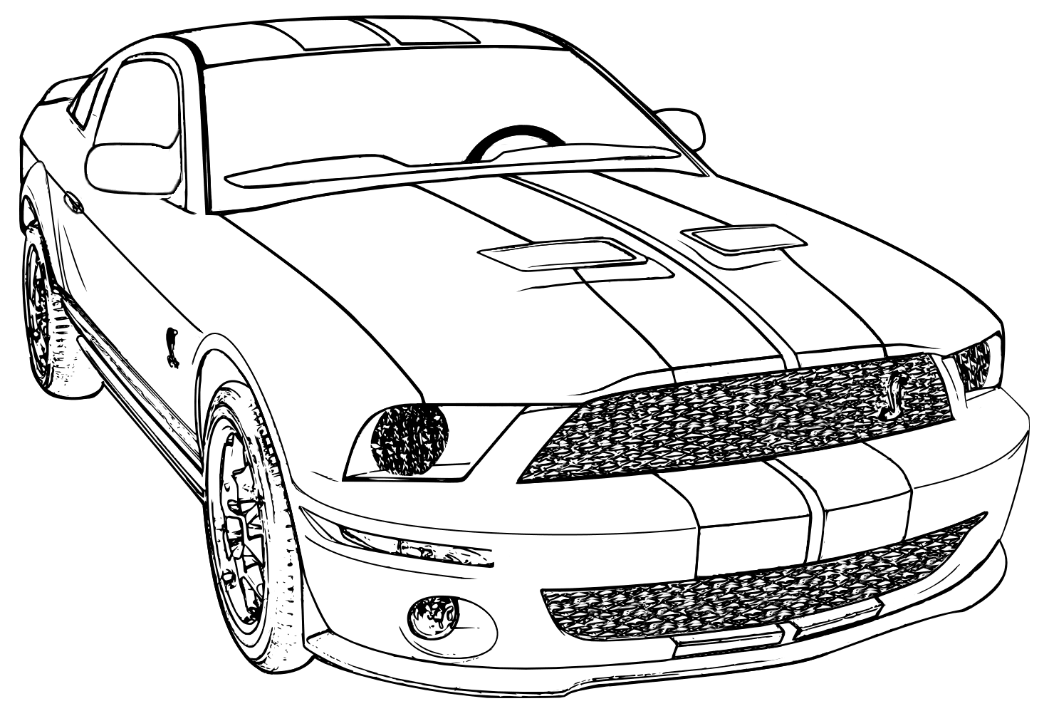 Mustang Coloring Pages 84 With Mustang Coloring Pages