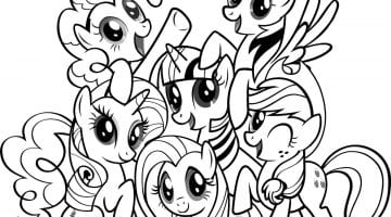 My Little Pony Friendship Is Magic Coloring Sheets