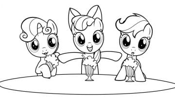 My Little Pony Friendship Is Magic Coloring Pages Printable