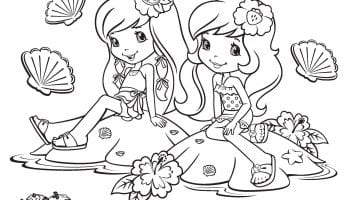 Coloring Pages Of Strawberry Shortcake And Her Friends