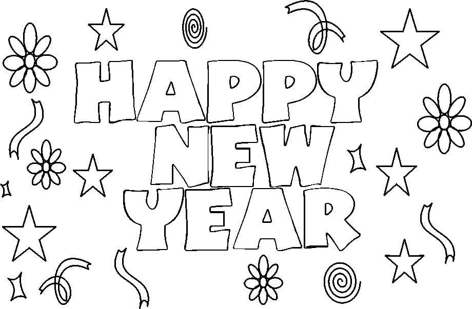 New Year Coloring Pages Free – Festival Collections