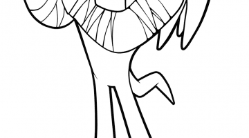 Sonic Style Coloring Pages