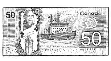 Canadian Money Colouring Pages