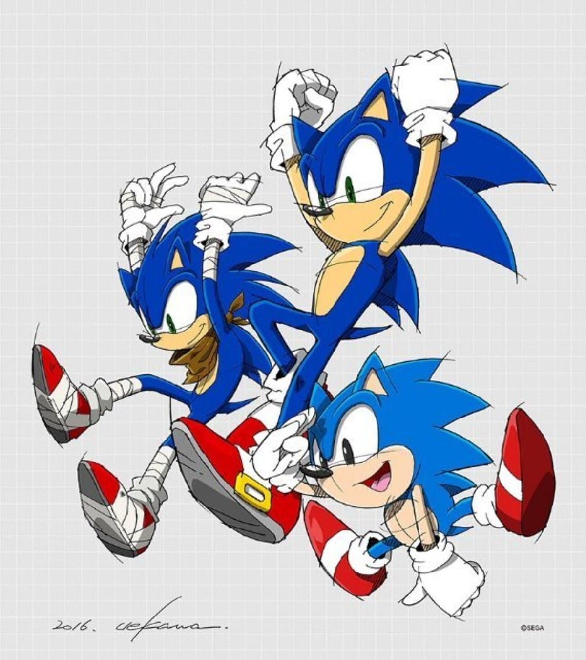 Official Sonic Print By Yuji Uekawa