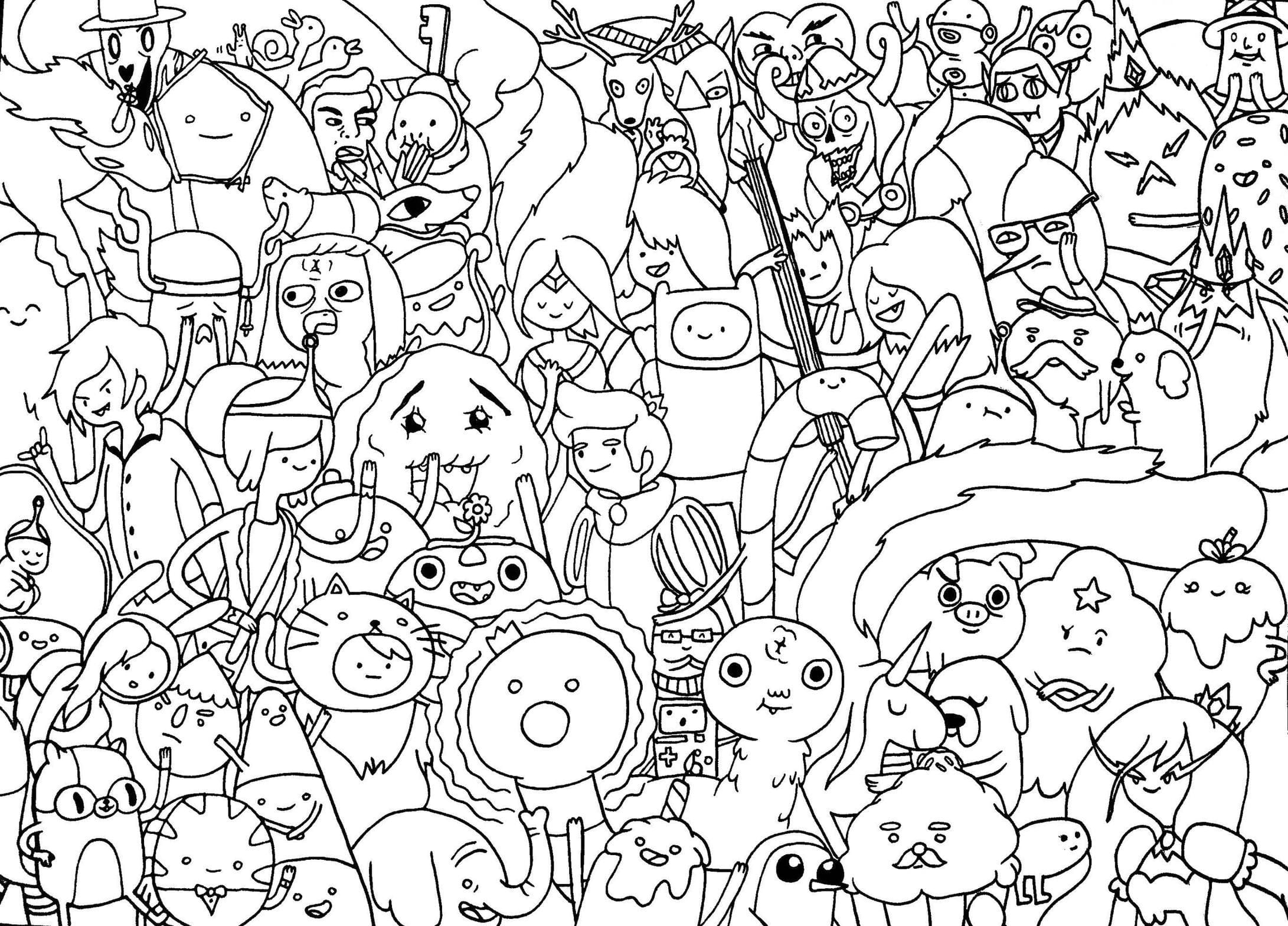 On Adventure Time Coloring Pages