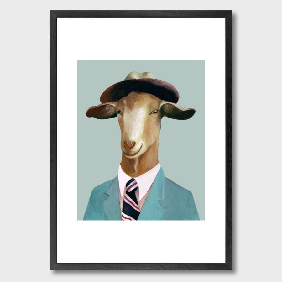 Mr Goat Art Print By Monde Mosaic