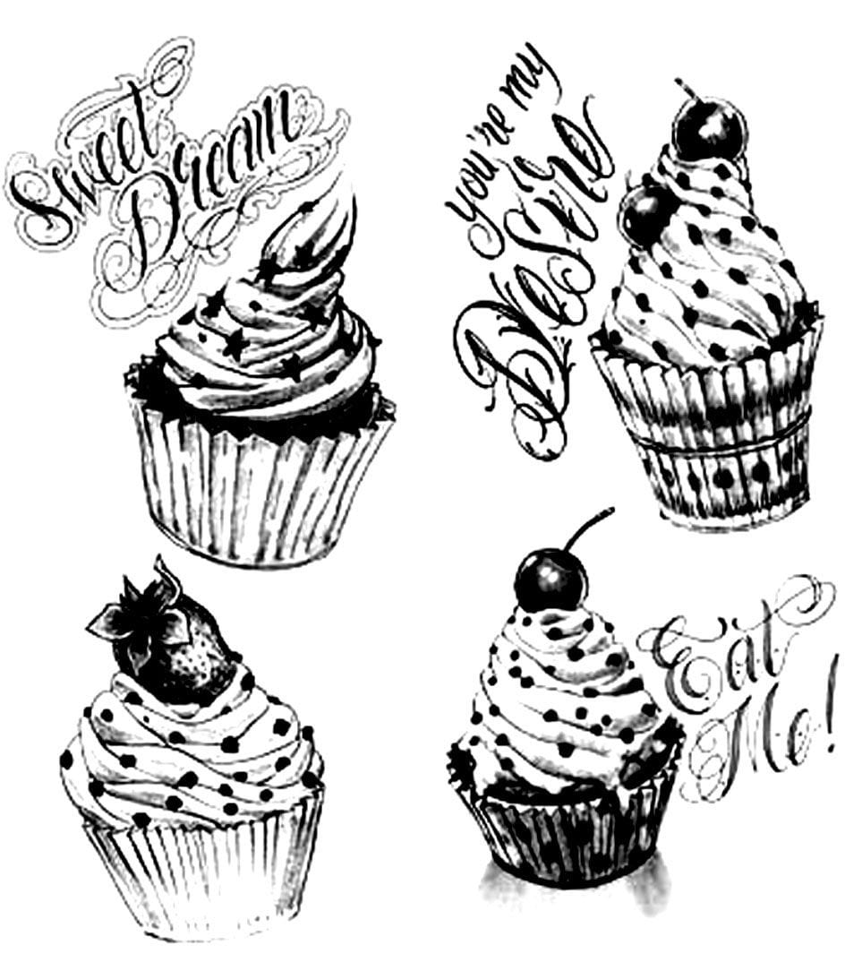 19 Awesome Pastry Coloring Pages