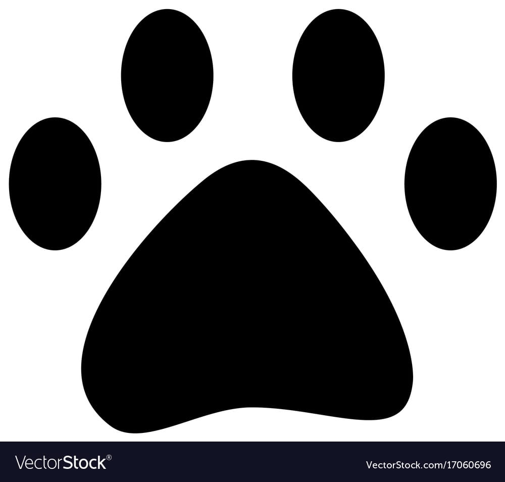 Pet Paw Print Walk Animal Silhouette Royalty Free Vector