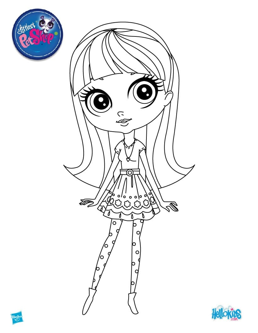 Littlest Pet Shop Coloring Pages, Puzzles, Videos And Fun