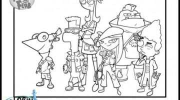 Coloring Pages Of Phineas And Ferb Characters