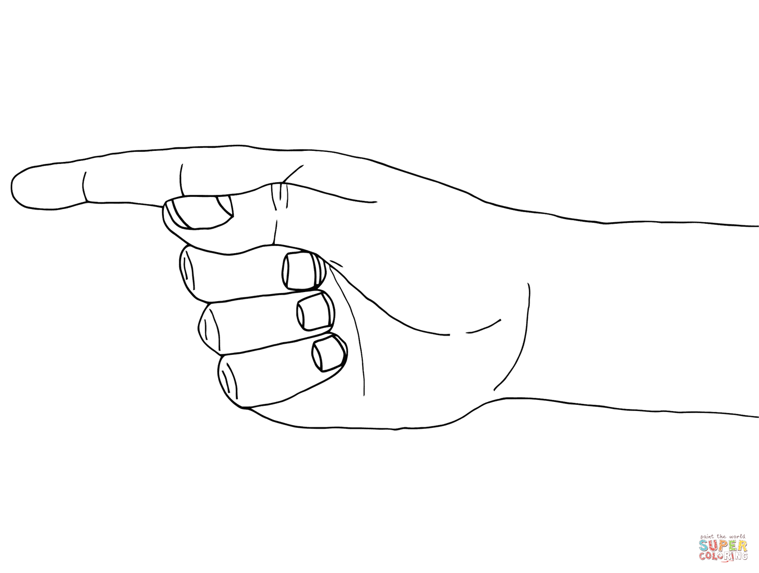 Pointing Coloring Page