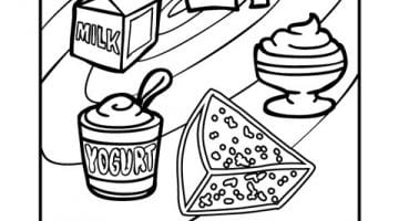 Food Groups Coloring Pages For Preschoolers