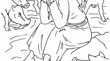 Parable Of The Lost Coin Coloring Pages