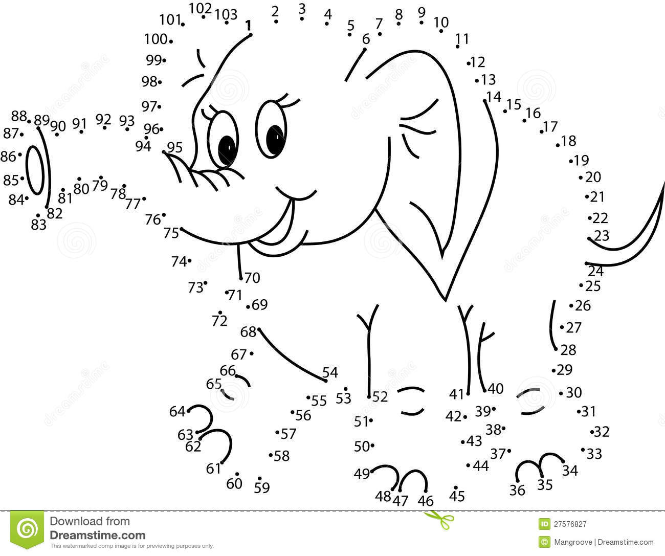 Puzzle Game For Kids   Elephant Stock Illustration