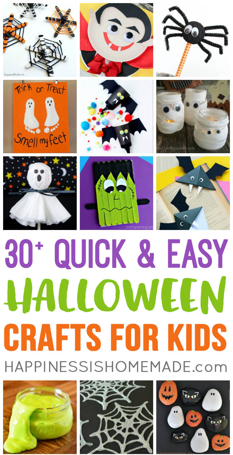 Quick & Easy Halloween Crafts For Kids