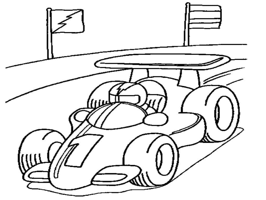 Dirt Track Race Car Coloring Pages Allmadecine Weddings For