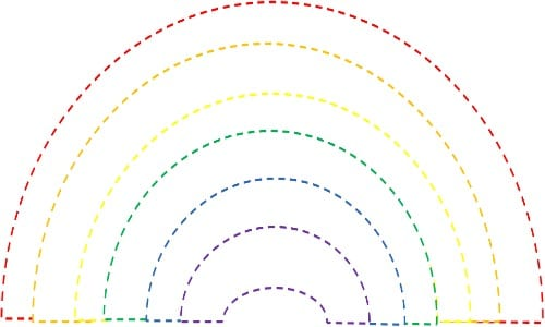 Rainbow Coloring Page Preschool