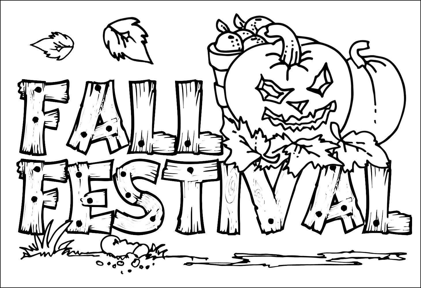 Revisited Free Printable Coloring Pages Fall Season Harvest Bltidm