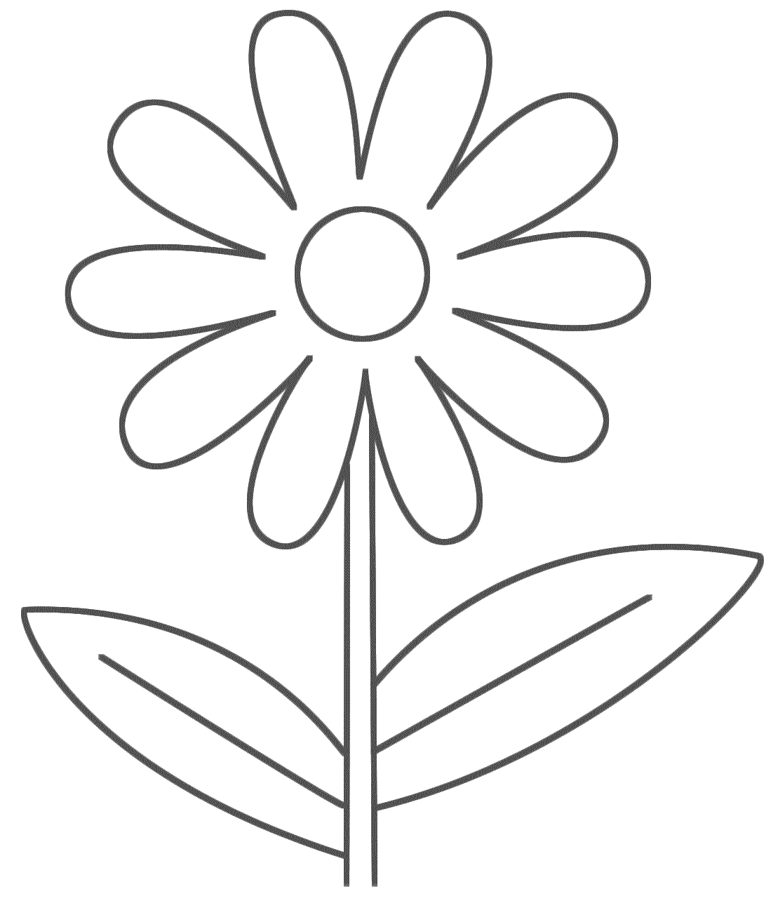 Free Flower Line Drawing, Download Free Clip Art, Free Clip Art On