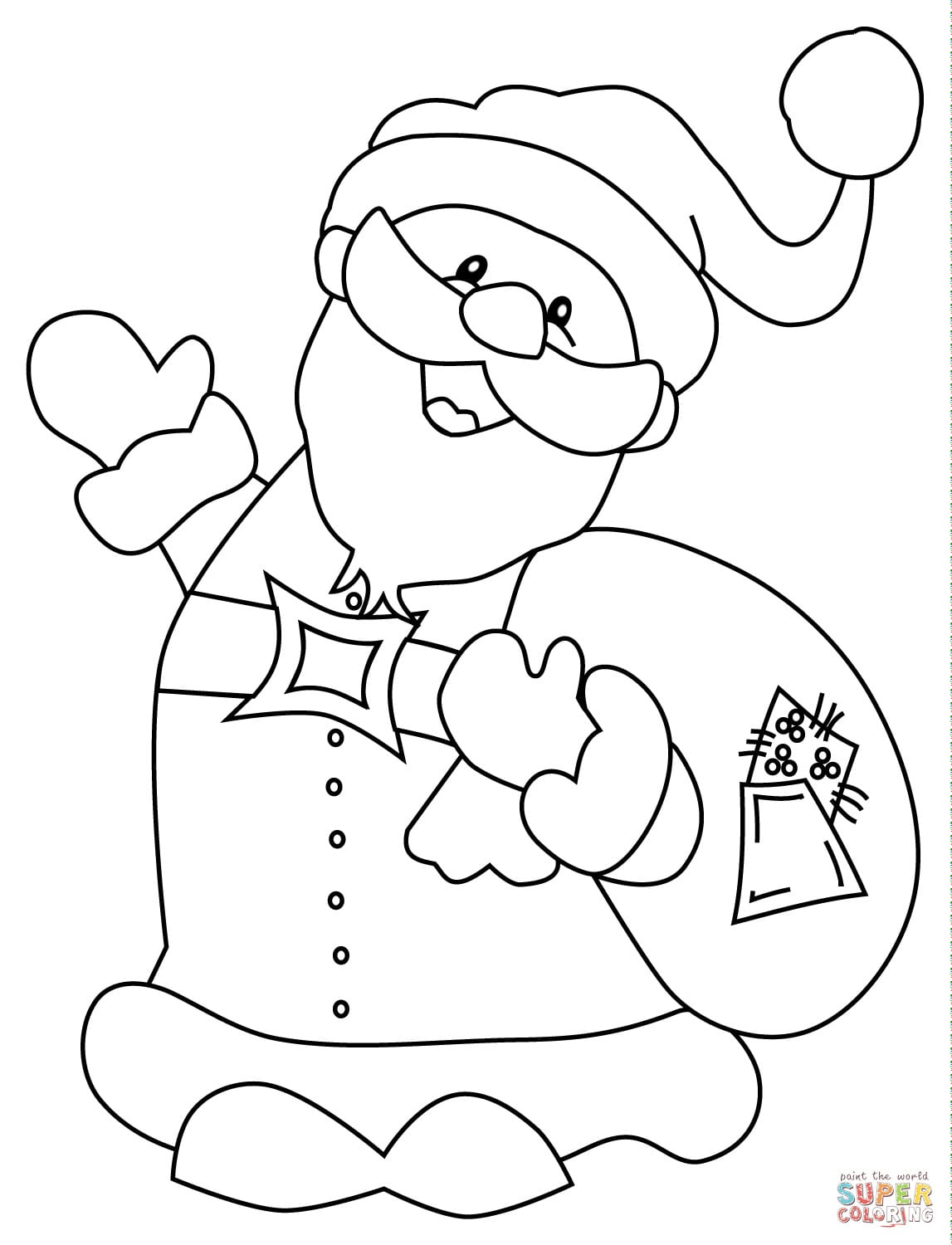Santa Coloring Pages Best For Kids Pagetmas Pdf Printable Free To