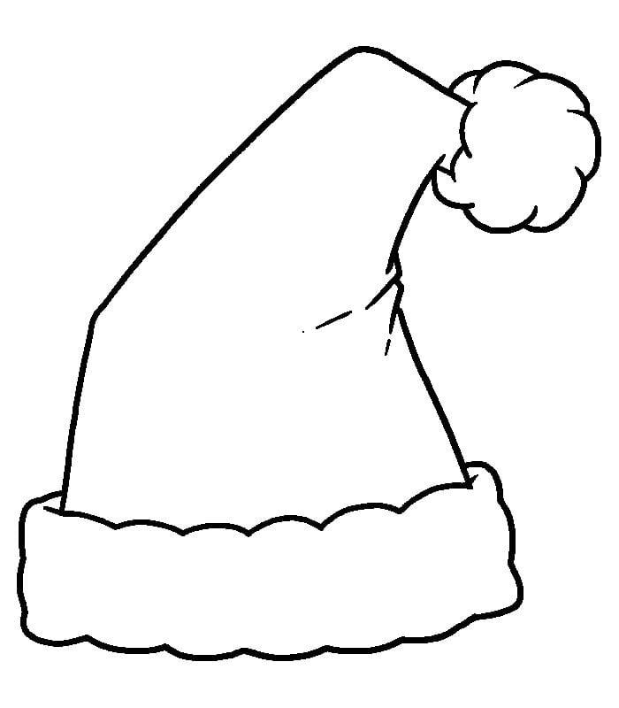 Printable Santa Hats Coloring Pages