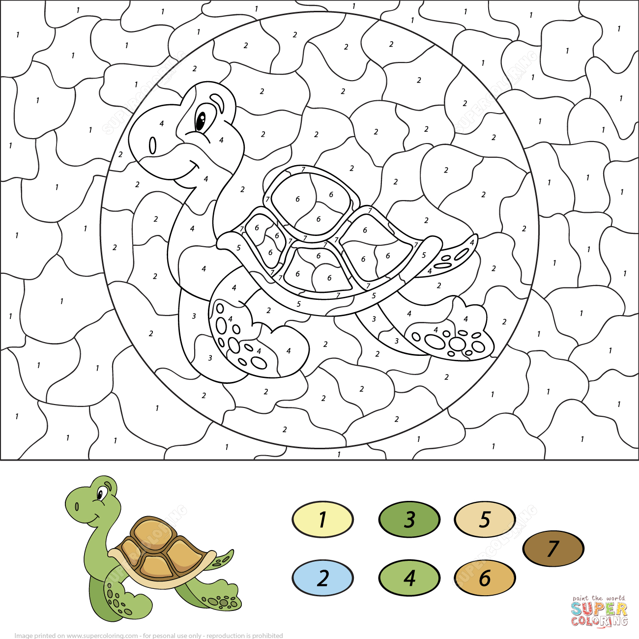 Color By Number Worksheets Coloring Pages