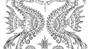 Free Printable Seahorse Coloring Pages