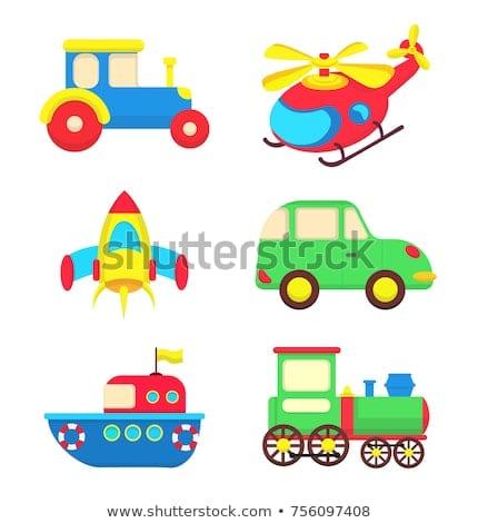 Set Transport Toys Children Hand Drawn Stock Vector (royalty Free
