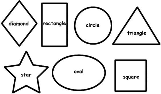 Cartoon Shapes Coloring Pages For Toddlers 3 Toddler